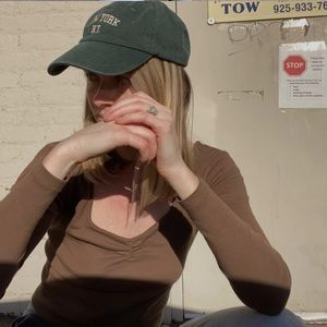 Brandy Melville green Katherine New York hat
